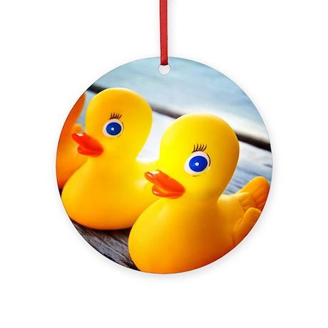 Rubber Ducky Ornament (Round)