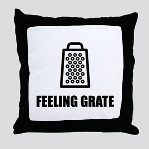 Feeling Cheese Grater Throw Pillow
