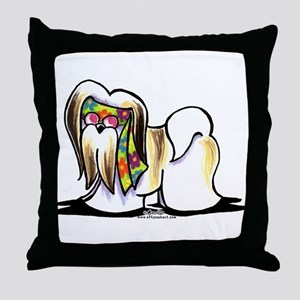 Lhasa Apso Hippie Throw Pillow