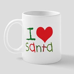 Kids I Love Santa Mug