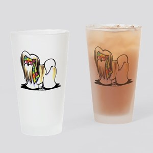 Lhasa Apso Hippie Drinking Glass