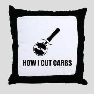 Cut Carbs Pizza Cutter Throw Pillow