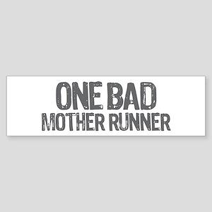 one bad mother runner Sticker (Bumper)