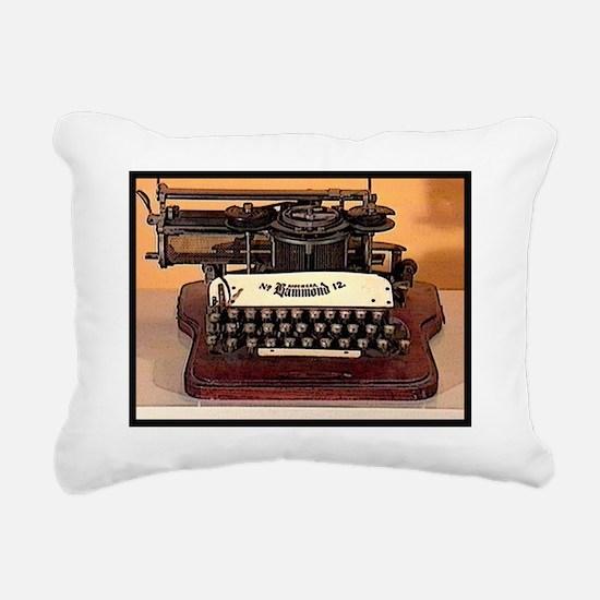 Cool Typewriter Rectangular Canvas Pillow