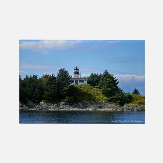 Ketchikan Light House Rectangle Magnet