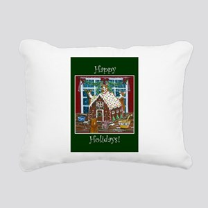 Happy Holidays Gingerbread Rectangular Canvas Pill