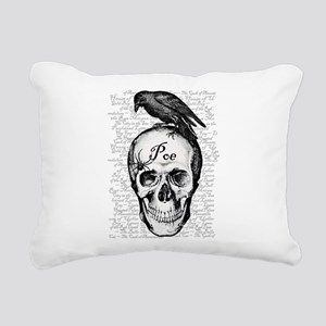 Raven Poe Rectangular Canvas Pillow