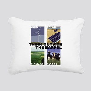 Think Outside the Barrel Rectangular Canvas Pillow