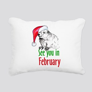 See you in February Rectangular Canvas Pillow