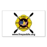 Fire Paddle Logo Clear 3 Sticker (Rectangle 50 pk)