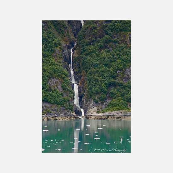 Tracy Arm Waterfall Rectangle Magnet