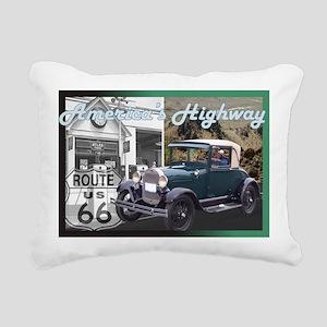 ROUTE 66 CLASSIC Rectangular Canvas Pillow
