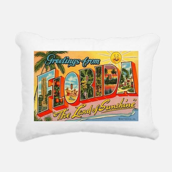 Greetings from Florida I Rectangular Canvas Pillow