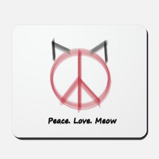 Peace Cat Mousepad