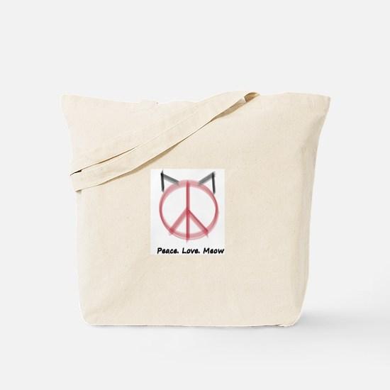 Peace Cat Tote Bag