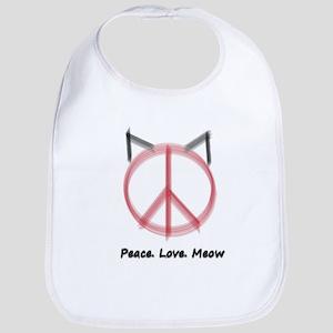 Peace Cat Bib