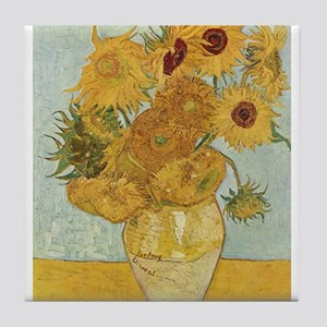 Van Gogh Sunflowers for Amy Tile Coaster