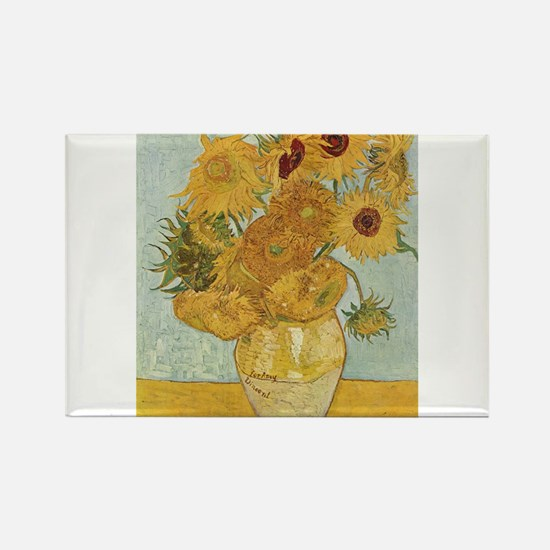 Van Gogh Sunflowers for Amy Rectangle Magnet