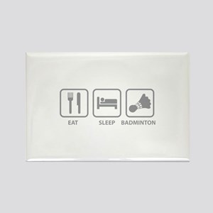 Eat Sleep Badminton Rectangle Magnet