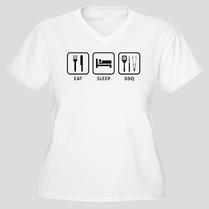 Eat Sleep BBQ Women's Plus Size V-Neck T-Shirt
