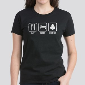 Eat Sleep Bridge Women's Dark T-Shirt