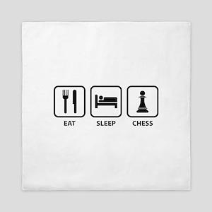 Eat Sleep Chess Queen Duvet