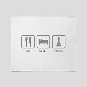 Eat Sleep Chess Throw Blanket