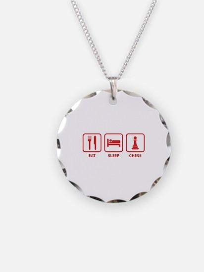 Eat Sleep Chess Necklace