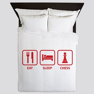 Eat Sleep Chess Queen Duvet