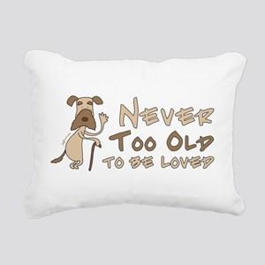Senior Dog Adoption Rectangular Canvas Pillow