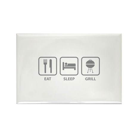 Eat Sleep Grill Rectangle Magnet (10 pack)