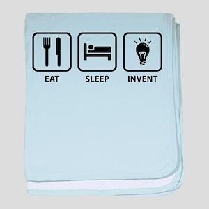 Eat Sleep Invent baby blanket