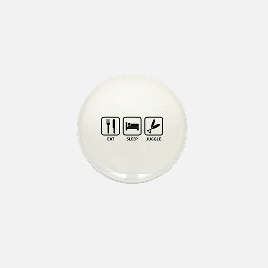 Eat Sleep Juggle Mini Button