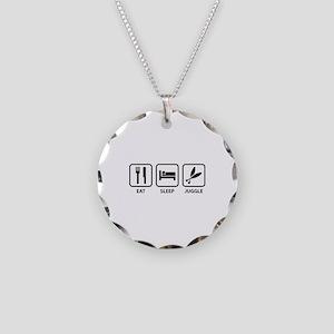 Eat Sleep Juggle Necklace Circle Charm