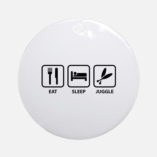 Eat Sleep Juggle Ornament (Round)