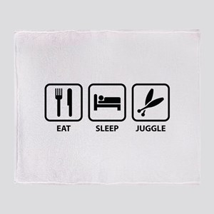 Eat Sleep Juggle Throw Blanket