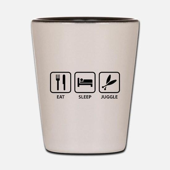 Eat Sleep Juggle Shot Glass