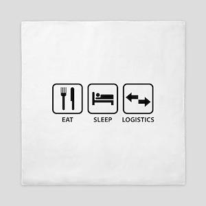Eat Sleep Logistics Queen Duvet