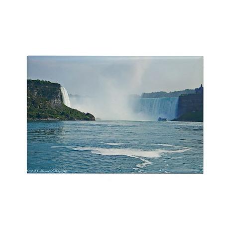 Boat & Horseshoe Falls Rectangle Magnet