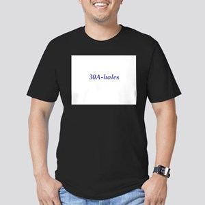 30A-holes Men's Fitted T-Shirt (dark)