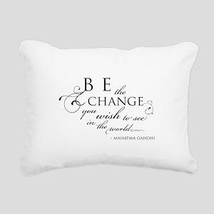 Change - Rectangular Canvas Pillow