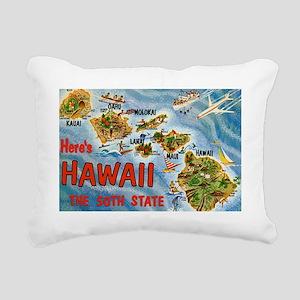 Hawaii Postcard Rectangular Canvas Pillow