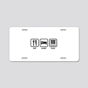 Eat Sleep Play Aluminum License Plate
