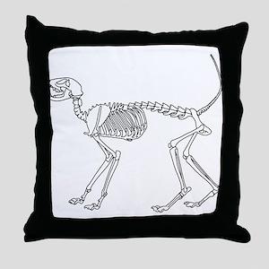 Skelo Cat Throw Pillow