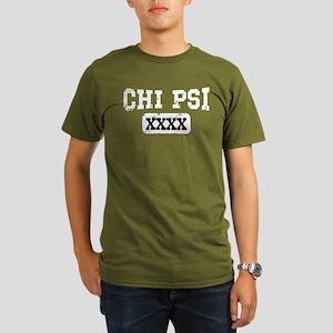 Chi Psi Athletic Pers Organic Men's T-Shirt (dark)