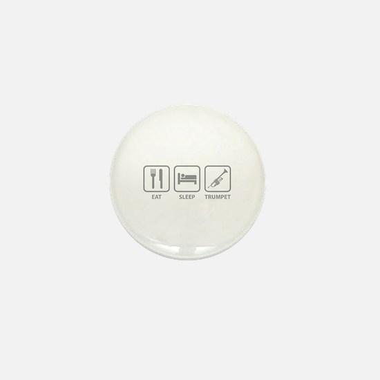 Eat Sleep Trumpet Mini Button
