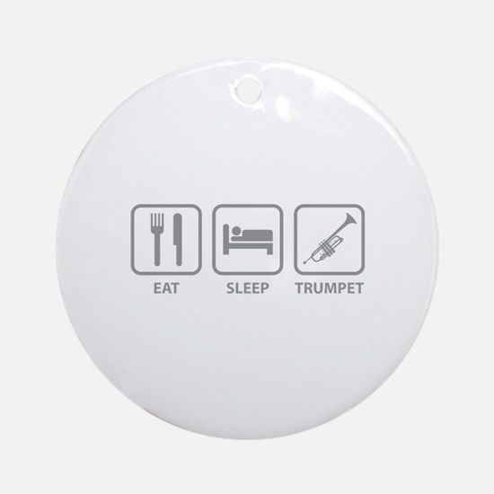 Eat Sleep Trumpet Ornament (Round)