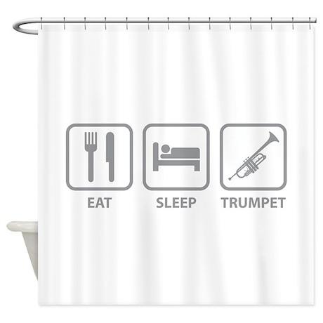 Eat Sleep Trumpet Shower Curtain