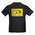 Caution Children At Play (AYS) Kids Dark T-Shirt