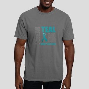 Teal Awareness Ribbon Cu Mens Comfort Colors Shirt